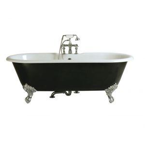 Ванна чугунная Heritage Buckingham 170 х 77 см, белый/чёрный + ножки