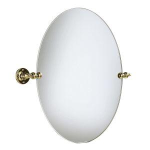 Зеркало овальной формы для ванной комнаты Heritage фурнитура золото AHA17
