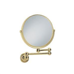 Двустороннее косметическое зеркало Heritage Extendable на кронштейне фурнитура золото d=184