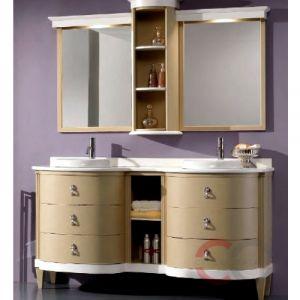 Комплект мебели GAIA Decor4 161 X 60 см цвет мебели Lacc.Opaca Bianco/Con Spigolatura Oro столешница MAdecor161D Travertino Res