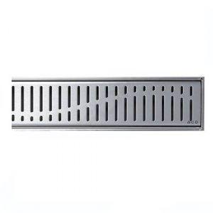 Решетка для душевого трапа Aco C-line Волна 885 мм из нержавеющей стали 408559