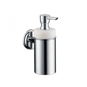 Дозатор жидкого мыла Hansgrohe Logis Classic (цвет - хром, керамика белая), емкость 125 мл