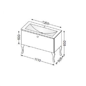 Комплект мебели Burgbad Diva SEAA110+SIAA100