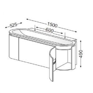 Комплект мебели Burgbad Lavo 150 см SEAA150+SIAB