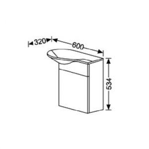 Комплект мебели Burgbad Pli 60 см SEAC+SIAD