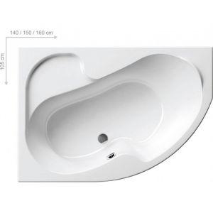 Ванна акриловая 160х105 см Ravak Rosa l L