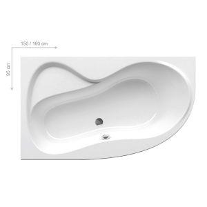Ванна акриловая Ravak Rosa 95 150 х 95 см, L (исполнение слева)