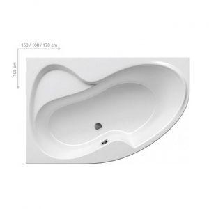 Ванна акриловая 160x105 см Ravak Rosa II L