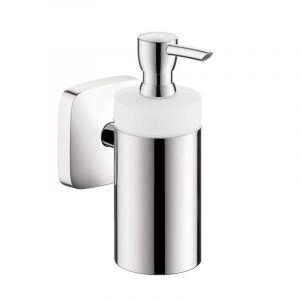 Дозатор для жидкого мыла Hansgrohe PuraVida (цвет - хром, стекло матовое), емкость 125 мл