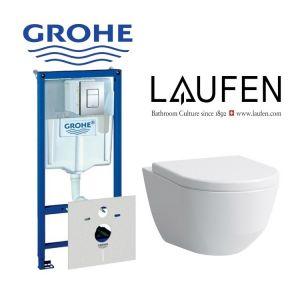 Инсталляция Grohe Rapid SL (4-в-1) комплект 38775001 с унитазом Laufen PRO 8209560000001 + ( сиденье Soft Close)