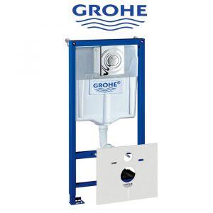 Инсталляция Grohe Rapid SL (4-в-1) комплект 38760001 (клавиша хром)