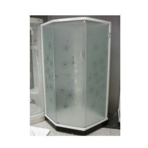 Душевая кабина IDO Showerama 8-5 90х90 (профиль белый, стекла художественные (Dandelion ll)/узорчаты