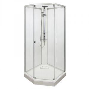 Душевая кабина IDO Showerama 8-5 100х100 (профиль серебристый, стекла прозрачные) 49851-12-010