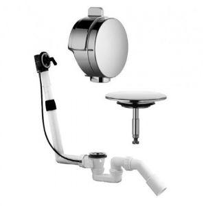 Сифон для ванны Kludi Rotexa multi 2000 (система налива и слива - перелива для стандартных ванн автомат + накладки хром)