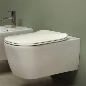 Унитаз подвесной Antonio Lupi Komodo + сиденье с крышкой soft close Ceramica Satinata