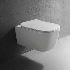Унитаз подвесной Antonio Lupi Komodo Ceramica Lucida c сиденьем Soft Close Ceramica Satinata
