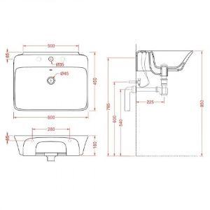 Раковина для установки на столешницу ArtCeram Cow 60 см CWL002