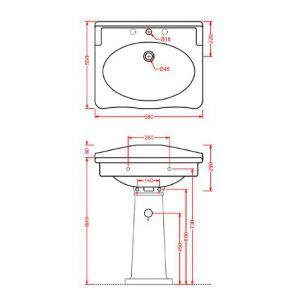 Колонна для раковины ArtCeram HERMITAGE HEC002