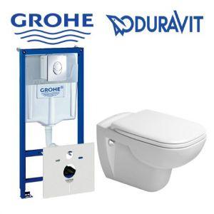 Инсталляция Grohe Rapid SL (4-в-1) комплект 38775001 с унитазомDuravit D-Code 22110900002 + ( сиденье Soft Close)