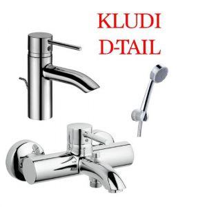 Набор смеситлей Kludi D-TAIL хром 382910590/386910590/606500590