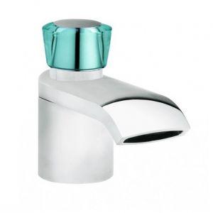 Смеситель для раковины Kludi Joop! (цвет - хром/стекло зеленое), с донным клапаном