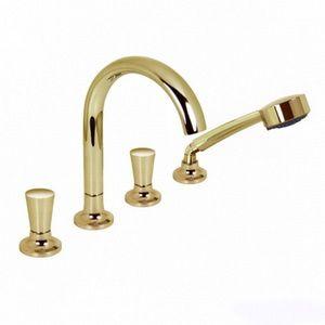 Смеситель Dornbracht LaFleur на борт ванны с душевым набором на четыре отверстия цвет шампань 275129