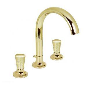 Смеситель Dornbracht LaFleur для раковины с декором шампань 20711955-47