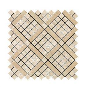 Мозаика Atlas Concorde Marvel Trav. Alabastrino Diagonal Mosaic