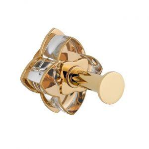 Baccarat, Petale de Cristal, прозрачный хрусталь с золотой каймой, аксессуар для ванной, крючок