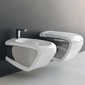 Унитаз подвесной Hidra Ceramica Hi-Line HIW10argento, белый/серебро