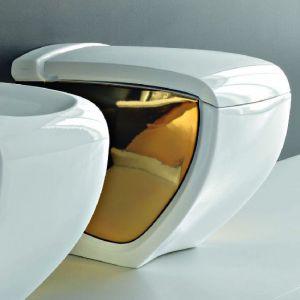 Напольный унитаз Hidra Ceramica Hi-Line (белый/золото)