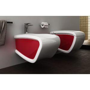 Унитаз подвесной Hidra Ceramica Hi-Line (цвет - белый / красный)