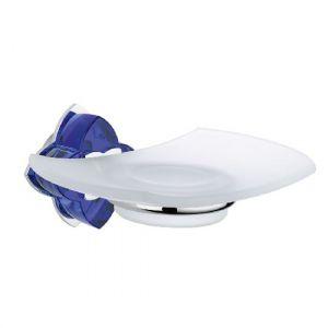 Baccarat, Petale de cristal, синий хрусталь, аксессуар для ванной, мыльница, хром