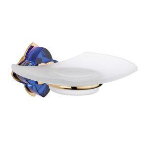 Baccarat, Petale de cristal, синий хрусталь, аксессуар для ванной, мыльница, золото