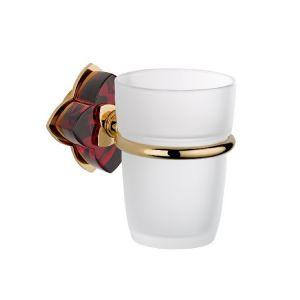 Baccarat, Petale de cristal, красный хрусталь, аксессуар для ванной, подстаканник, золото