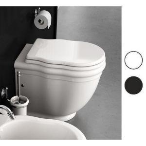Унитаз Hidra Ellade + сиденье с крышкой с микролифтом Soft Close (цвет - чёрный)