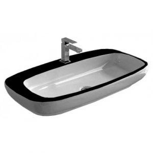 Раковина накладная на столешницу Hidra Dial 90х48,5 см (белый/черный)