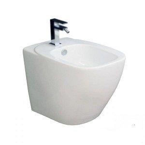Биде напольное Hidra Dial 55х34 см (белый/черный)