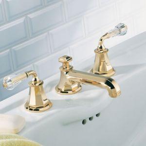Смеситель для раковины. золото THG Art Deco Cristal
