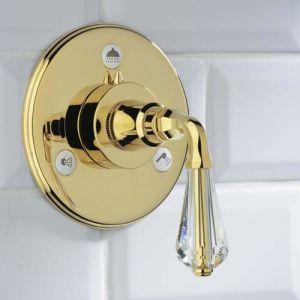 Cмеситель для душа термостатический THG Art Deco Cristal (цвет - хрусталь прозрачный/золото)