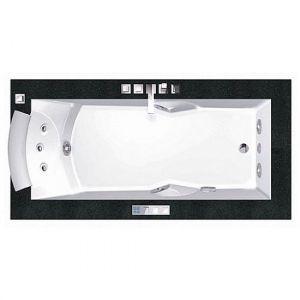 Ванна акриловая 180х90 см Jacuzzi Aura Uno Design + подголовник+ перелив (расположен под бортом ванны)