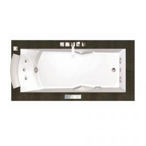 Ванна акриловая гидромассажная 180х90 см Jacuzzi Aura Uno