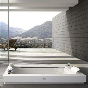 Ванна акриловая гидромассажная Jacuzz Aura Plus Corian® 185 х 155 см