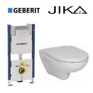 Инсталляция Geberit Duofix (4-в-1) комплект 458.161.21.1 с унитазом Jika Lyra H8233800000001 + (сиденье Soft Close)