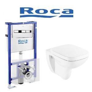 Инсталляция Roca (4-в-1) комплект с унитазом Roca Debba A89009000E + ( сиденье Soft Close)