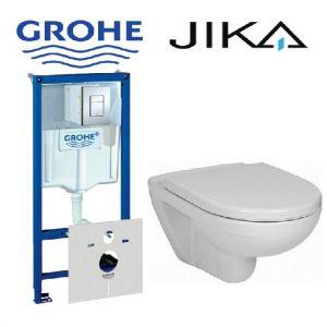 Инсталляция Grohe Rapid SL (4-в-1) комплект 38772001 с унитазом JIKA Lyra H8233800000001 + ( сиденье Soft Close)
