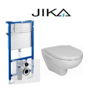 Инсталляция JIKA (4-в-1) 8.9366.3.004.000.1B комплект с унитазом JIKA Lyra H8233800000001 + ( сиденье Soft Close)