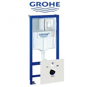 Инсталляция Grohe Rapid SL (4-в-1) комплект 38772001 (клавиша хром)