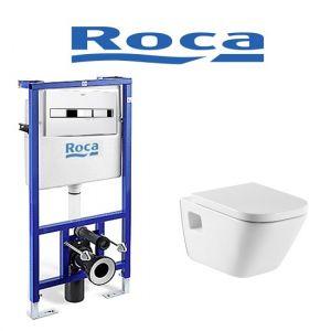 Инсталляция Roca (4-в-1) комплект с унитазом Roca GAP ( сиденье Soft Close )