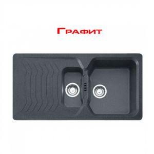 Кухонная мойка Franke Bahia BAG 651 внешний размер 965 мм х 500 мм (цвет - графит)